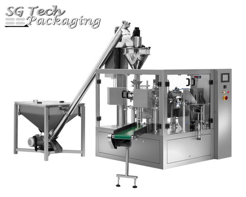 Pre-made Pouch Powder Rotary Packaging Machine
