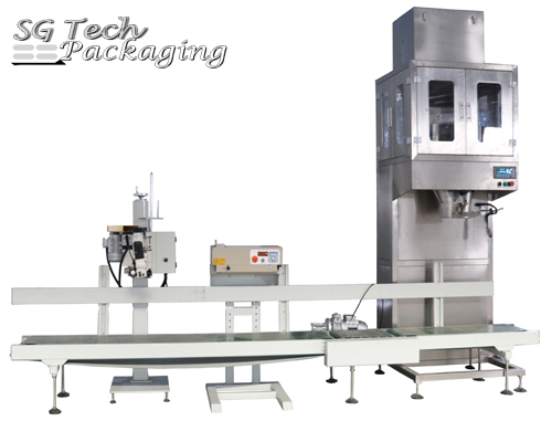 Semi-Automatic Belt Conveying Weighing Bagging Machine Unit
